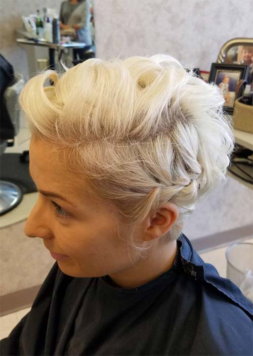 Updos for Short Hair Ideas: Side Braided Short Hair Updo