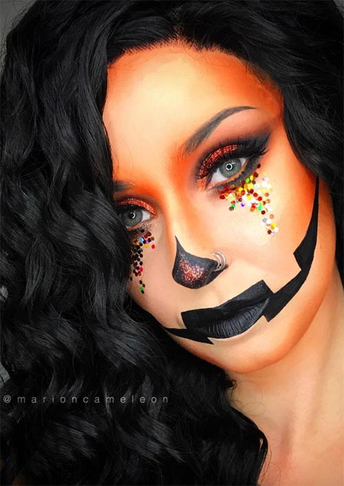 Halloween Makeup Ideas: Jaclyn Lantern Makeup for Halloween