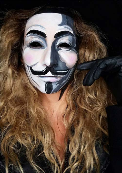 Halloween Makeup Ideas: Vendetta Makeup for Halloween