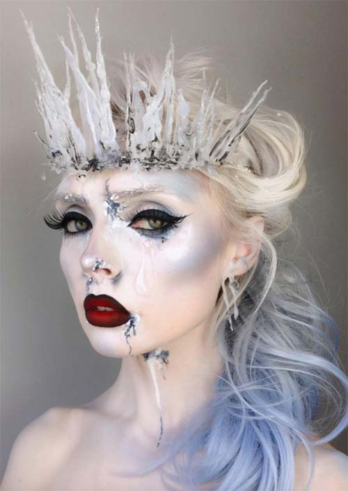 halloween makeup ideas ice queen makeup for halloween