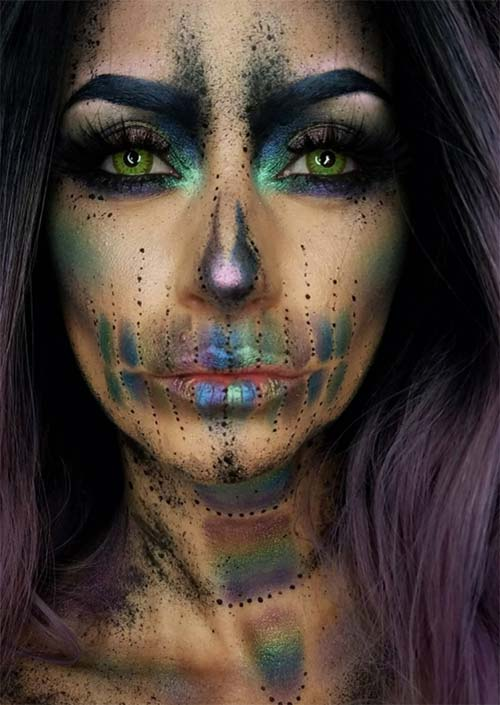 Halloween Makeup Ideas: Moonbow Skull Makeup for Halloween