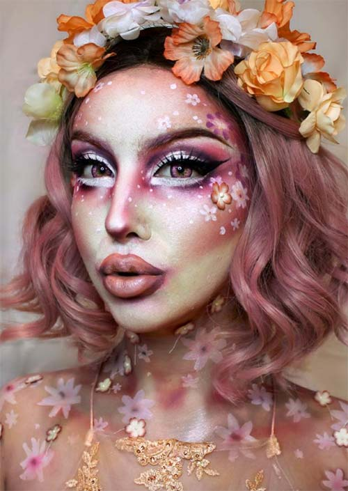Halloween Makeup Ideas: Peach Blossom Makeup for Halloween