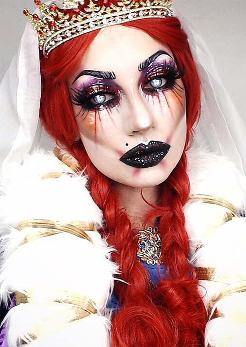 Halloween Makeup Ideas: Red Queen Makeup for Halloween