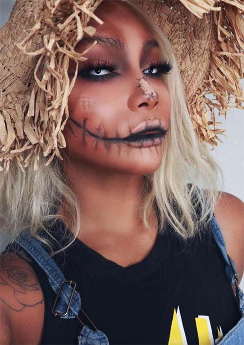 Halloween Ideas 2019 Makeup.51 Creepy And Cool Halloween Makeup Ideas To Try In 2019