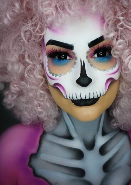 Halloween Makeup Ideas: Skull Girl Makeup for Halloween