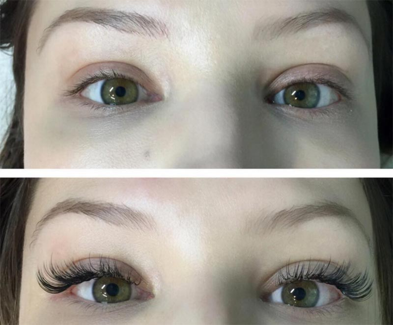 Natural Hair Lash Extensions