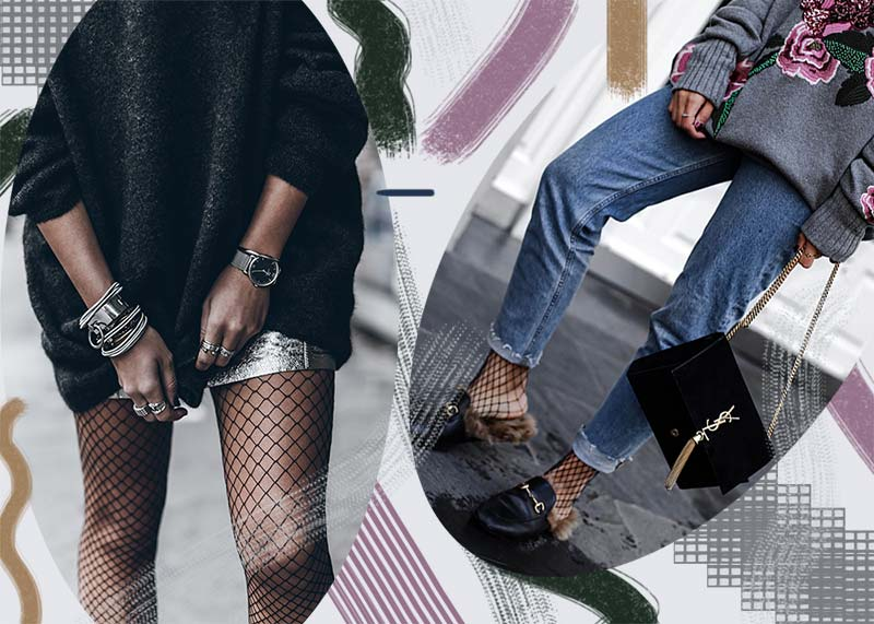 How to Wear Fishnet Tights and Socks Like a '90s Fashion ...