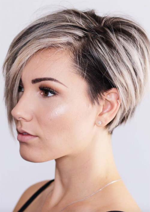 51 edgy and rad short undercut hairstyles for women glowsly. Black Bedroom Furniture Sets. Home Design Ideas