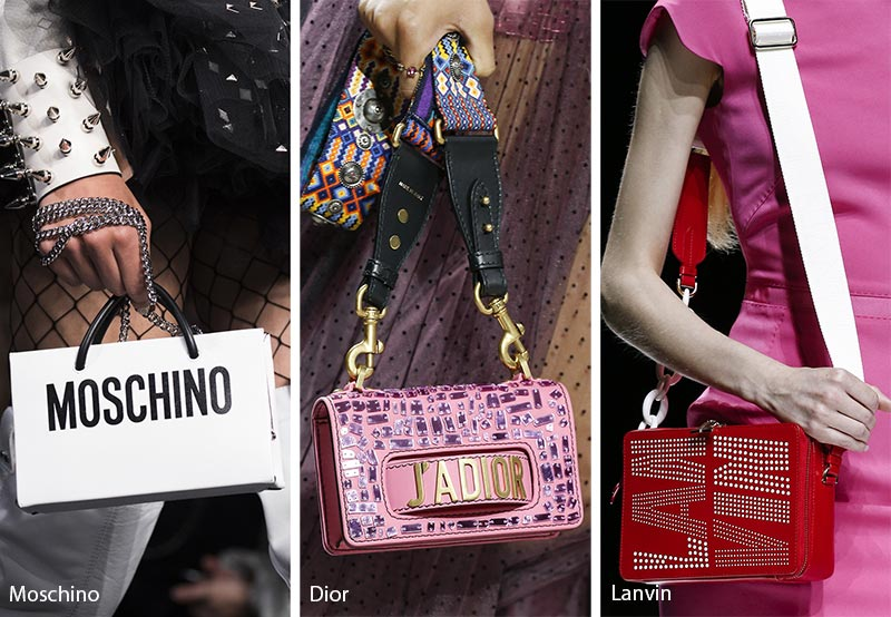 f82637adc1f Spring/ Summer 2018 Handbag Trends: Bags with Logos