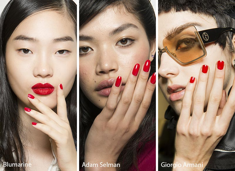 Spring/ Summer 2018 Nail Trends: Red Nails