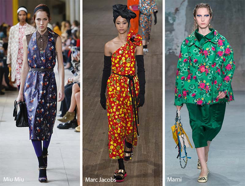 Spring/ Summer 2018 Print Trends: '60s Floral Patterns