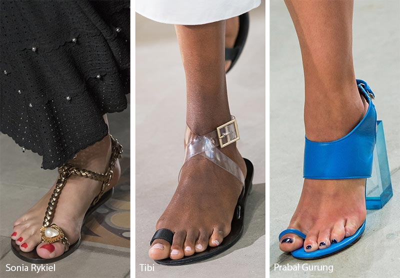 Spring/ Summer 2018 Shoe Trends: Sandals with Strapped-In Toe