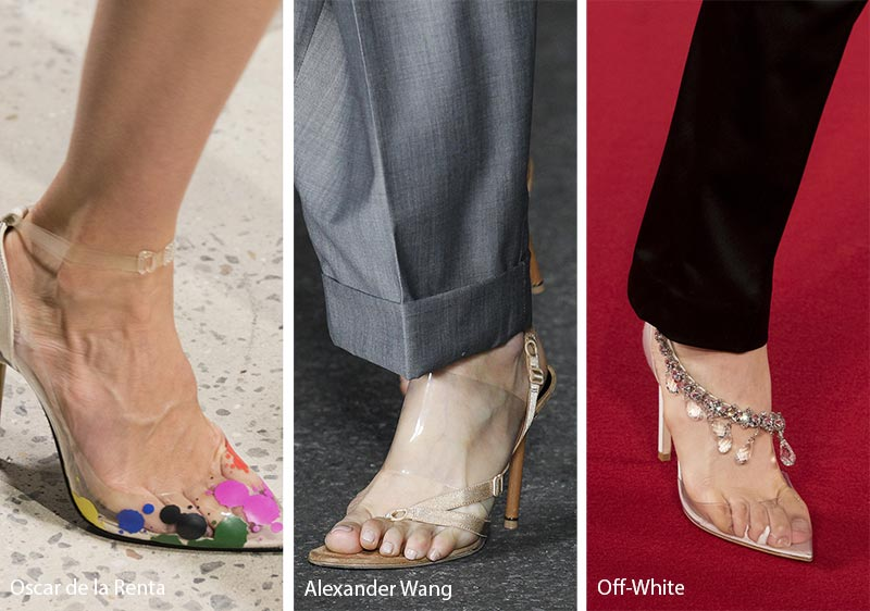 Spring/ Summer 2018 Shoe Trends: See-Through Shoes