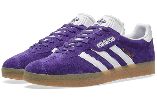 Pantone Color of the Year 2018 Ultra Violet Beauty & Fashion Items: Adidas Gazelle Ultra Violet Sneakers
