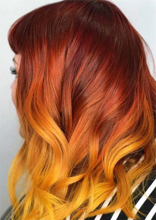Autumn/ Fall Hair Colors for Redheads: Tips