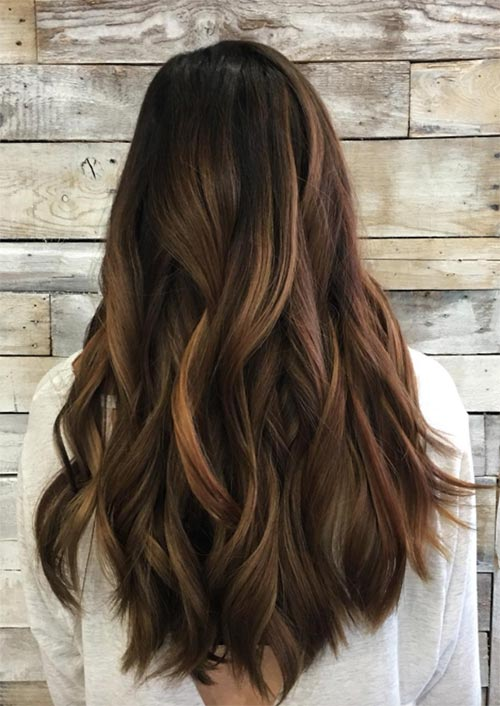 Autumn/ Fall Hair Colors, Ideas and Trends: Caramel Balayage Highlights