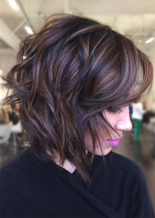 Autumn/ Fall Hair Colors, Ideas and Trends: Chocolate Brown Balayage Hair