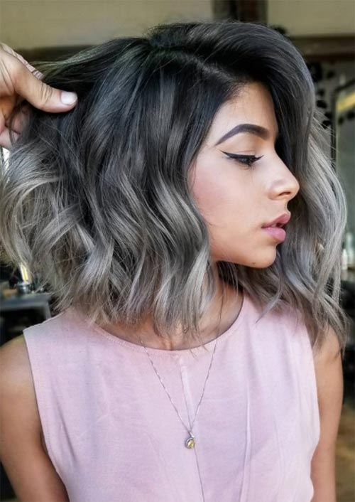 Autumn/ Fall Hair Colors, Ideas and Trends: Charcoal Grey Hair