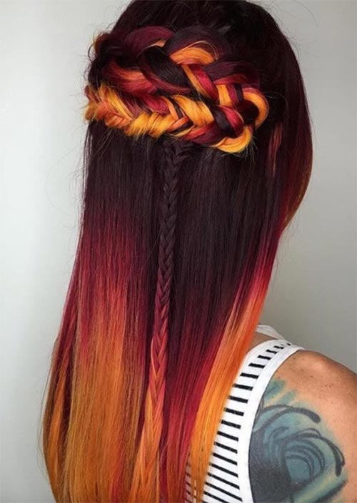 Autumn/ Fall Hair Colors, Ideas and Trends: Fire Red Hair