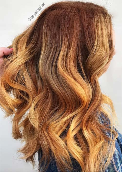Autumn/ Fall Hair Colors, Ideas and Trends: Pumpkin Hair