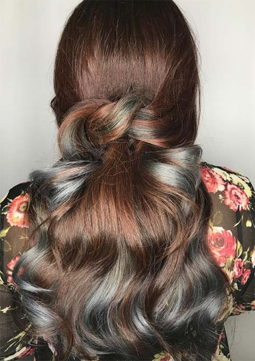 Autumn/ Fall Hair Colors, Ideas and Trends: Vintage Brown Denim Hair Color Melt
