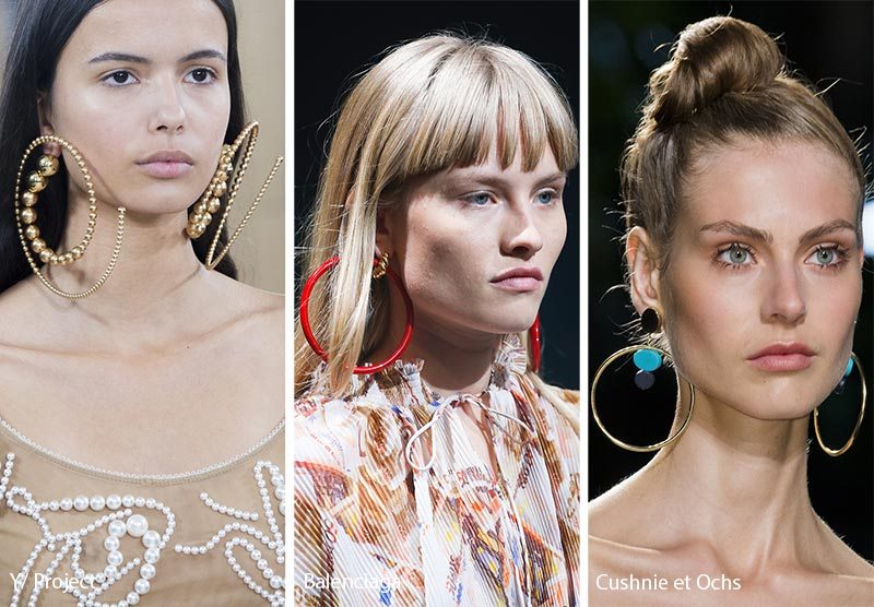 Spring/ Summer 2018 Jewelry Trends: Large Hoop Earrings