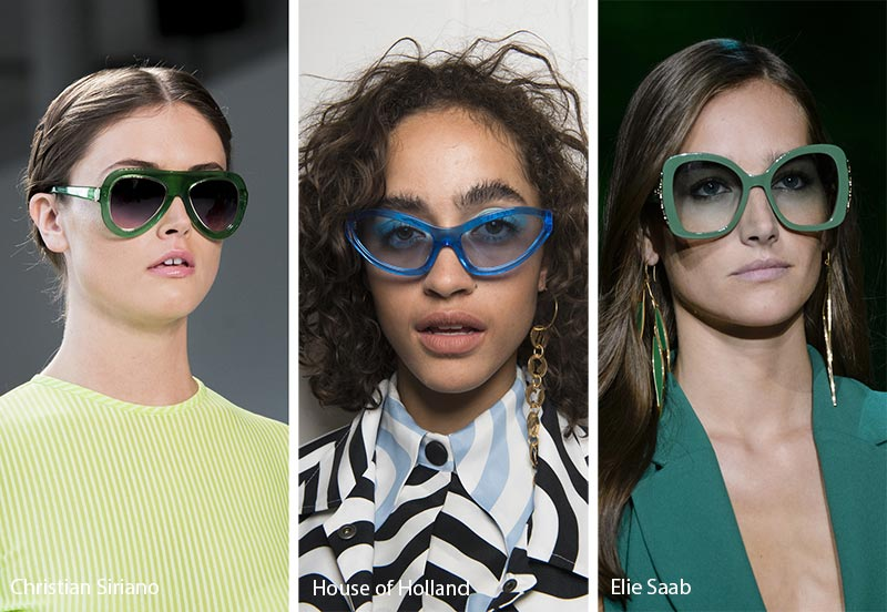 Spring/ Summer 2018 Sunglasses Trends: Colorful Frames Sunglasses