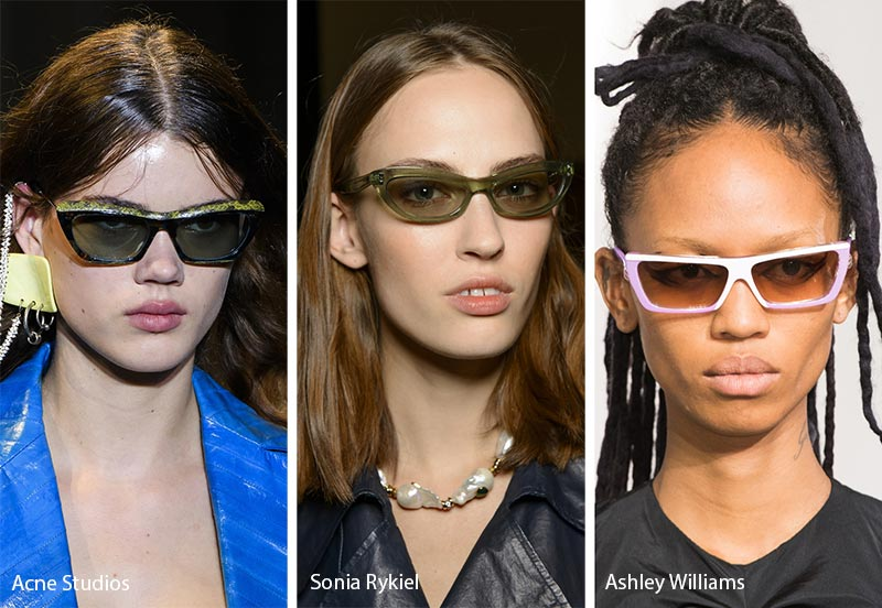 Spring/ Summer 2018 Sunglasses Trends: Rectangular Cat Eye Sunglasses