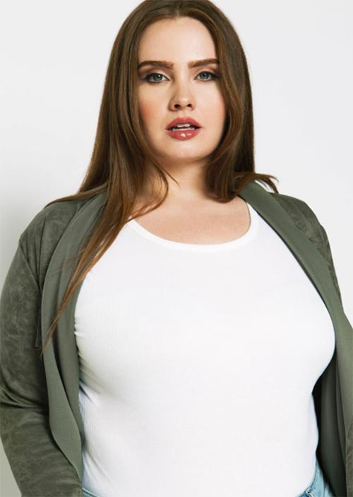 Top Plus-Size Models of All Time/ Curvy Models: Hayley Herms