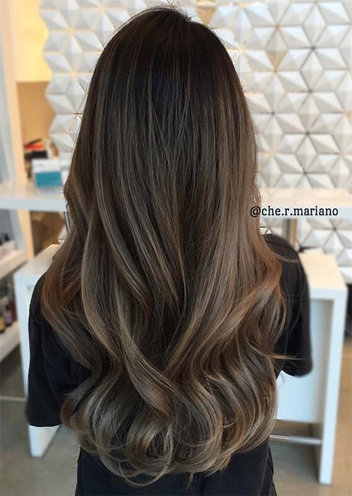 Winter Hair Colors Ideas & Trends: Ash Brown Hair