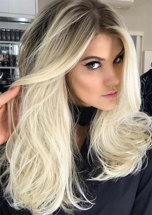 Winter Hair Colors Ideas & Trends: Bleached Blonde Hair