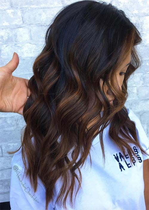 Winter Hair Colors Ideas & Trends: Cinnamon Chocolate Hair