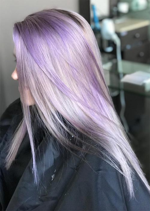 Winter Hair Colors Ideas & Trends: Lilac Ice Hair