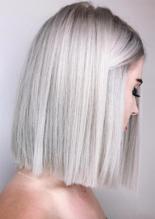 Winter Hair Colors Ideas & Trends: Platinum White Hair