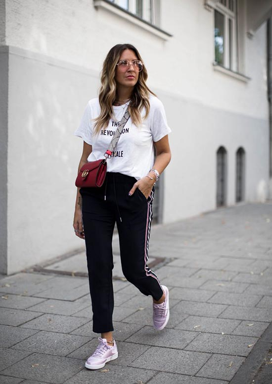 How to Style Sweatpants/ Track Pants for Women