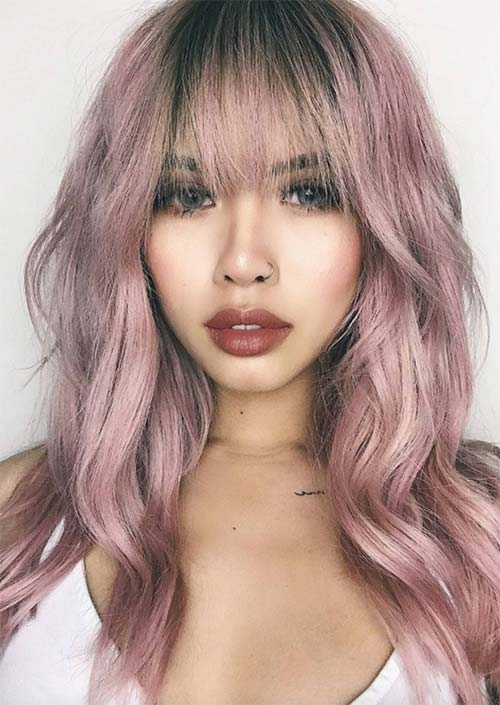 55 Long Haircuts With Bangs For 2019: Tips For Wearing