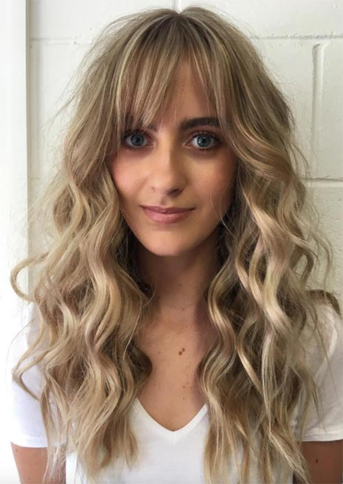 55 Long Haircuts With Bangs For 2018 Tips For Wearing Fringe