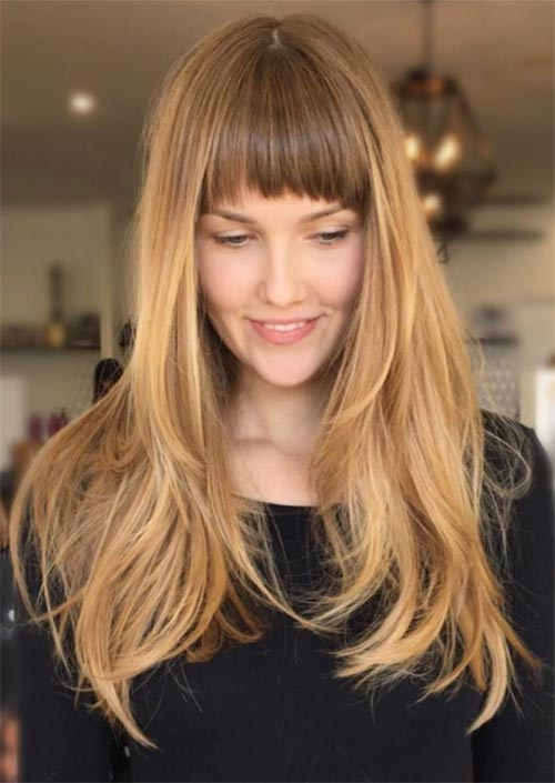 55 Long Haircuts with Bangs for 2018: Tips for Wearing Fringe ...