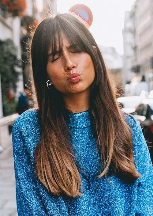 55 Long Haircuts with Bangs for 2019: Tips for Wearing Fringe ...