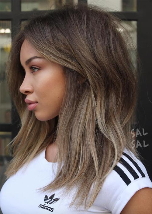51 Medium Hairstyles & Shoulder-Length Haircuts for Women in 2018 ...
