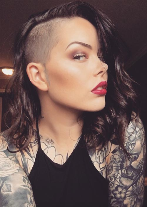 51 Long Undercut Hairstyles for Women In 2018: DIY Undercut Hair ...