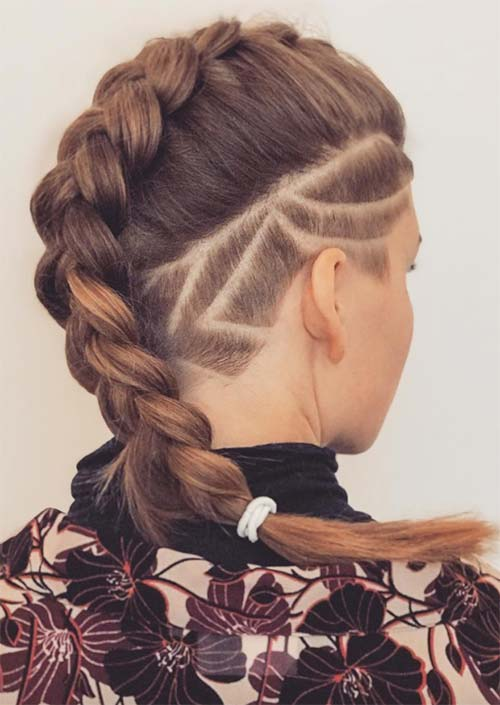 Undercut Long Hair: Long Undercut Hairstyles and Haircuts for Women