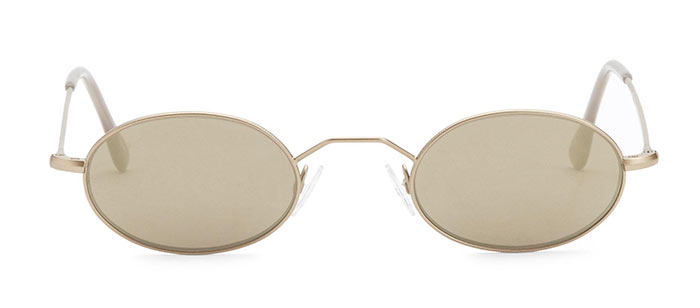 Best Tiny/ Small '90s Sunglasses for Women: Andy Wolf Small Oval Sunglasses