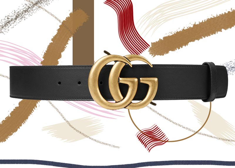 Best Gucci Belts for Women of All Time: Gucci Black Leather Belt with Double G Buckle