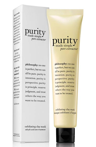 Best Clay Masks for Blackheads: Philosophy Purity Made Simple Pore Extractor Exfoliating Clay Mask