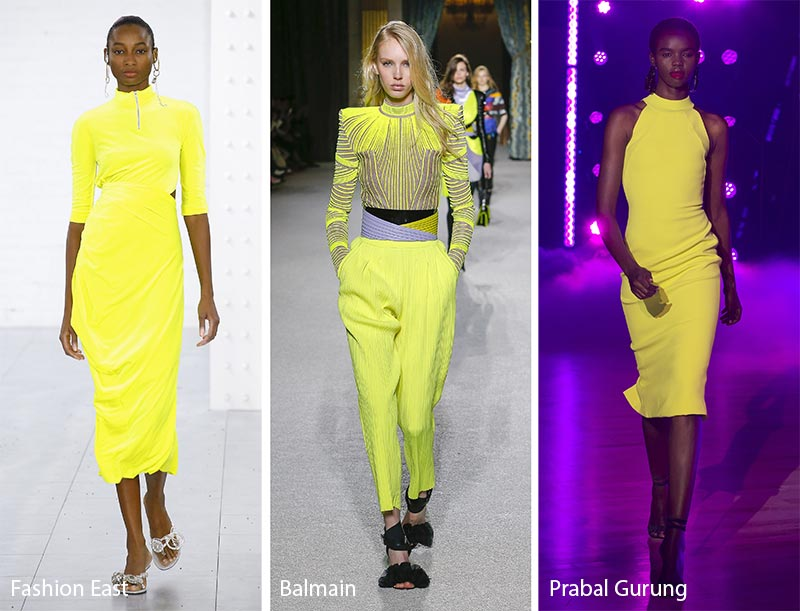 Fall/ Winter 2018-2019 Color Trends: Limelight Neon Yellow