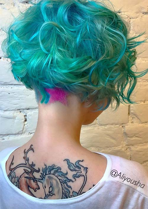 Undercut Hairstyles with Hair Tattoos for Women