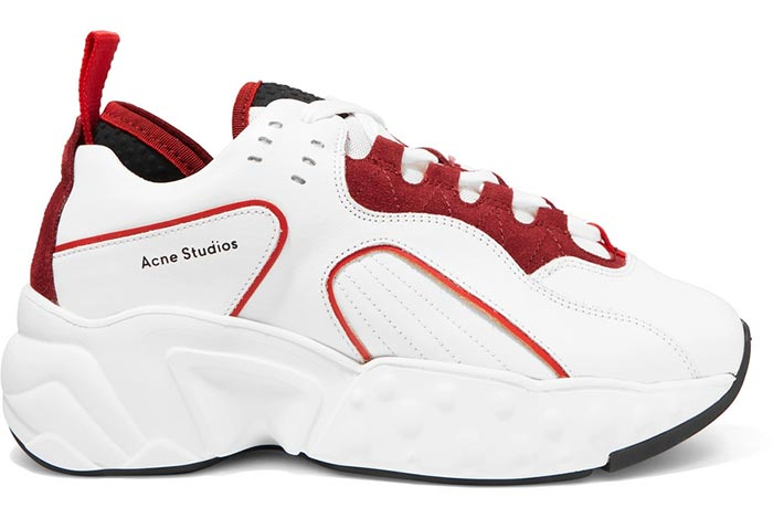 On-Trend Dad/ Chunky Ugly Sneakers for Women: Acne Studios Manhattan Sneakers