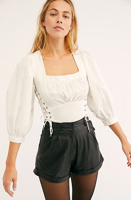 Best Leather Short Shorts for Women: Free People Leather Shorts