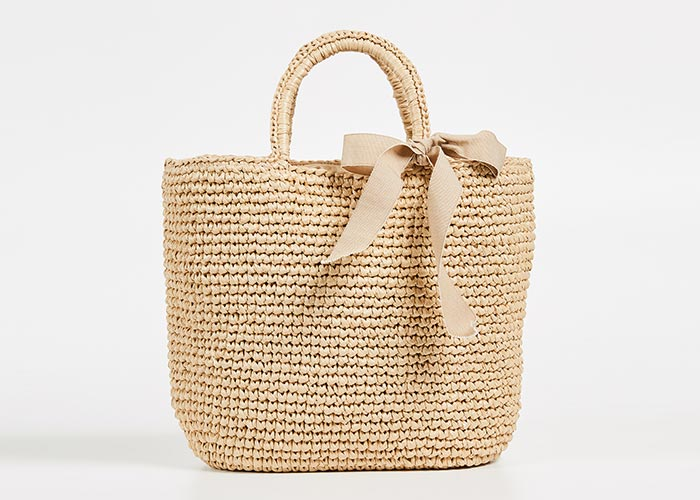 Best Straw Bags for Summer: Caterina Bertini Basket Straw Bag